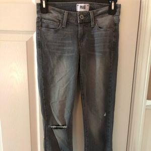 Paige Verdugo Crop Grey Skinny Jeans